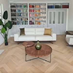 beautiful prime grade engineered oak herringbone with an invisible lacquer